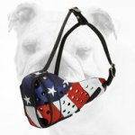 American Pride Hand painted Leather Muzzle