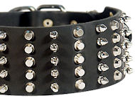 3 inch Spiked and Studded Bulldog collar