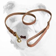 Extra Durable Leather Bulldog Leash