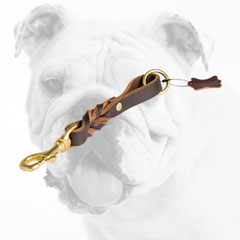 Stylish Braided Short Leather Bulldog Leash