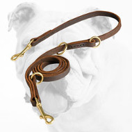 Multimode Leather Bulldog Leash
