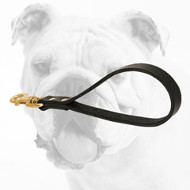 Practical Short Leather Bulldog Leash