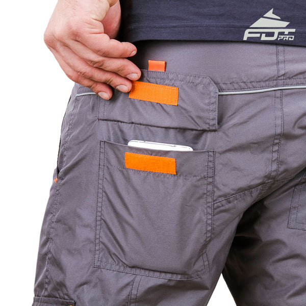 Comfortable Design Pro Pants with Strong Back Pockets for Dog Training