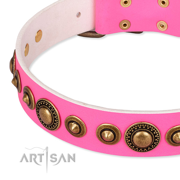 Best quality genuine leather dog collar handmade for your impressive doggie