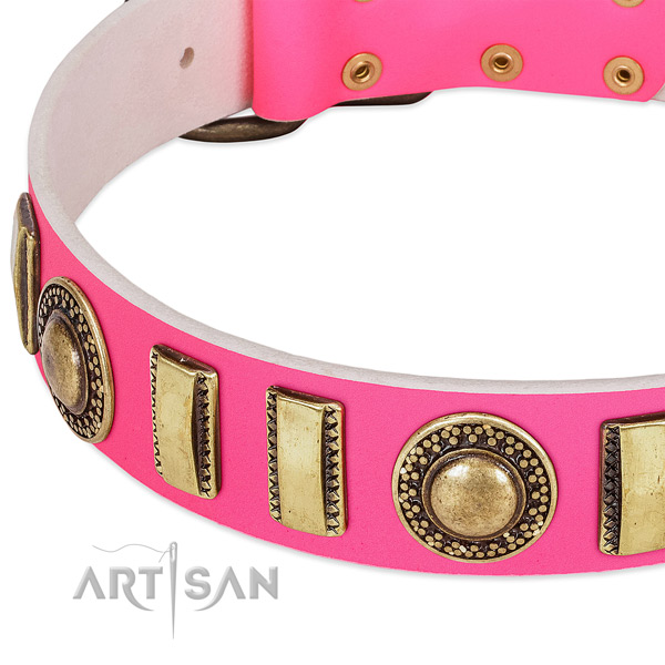Strong leather dog collar for your lovely dog