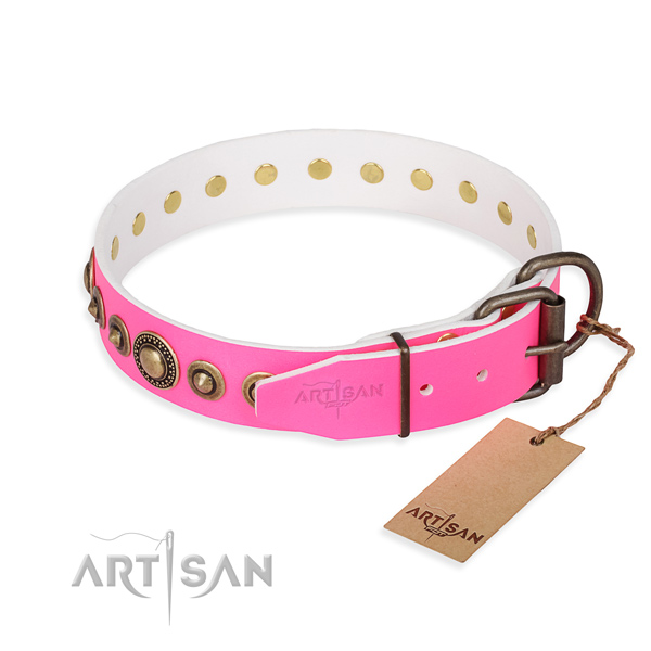 Best quality leather dog collar created for comfortable wearing