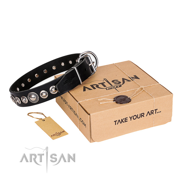 Best quality genuine leather dog collar