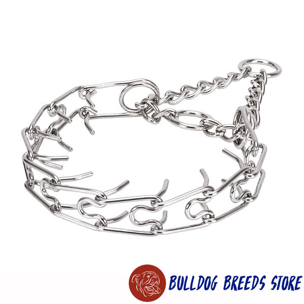 Strong stainless steel dog pinch collar for large dogs
