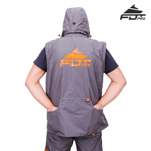 Top Rate Dog Training Suit Grey Color from FDT Pro Wear
