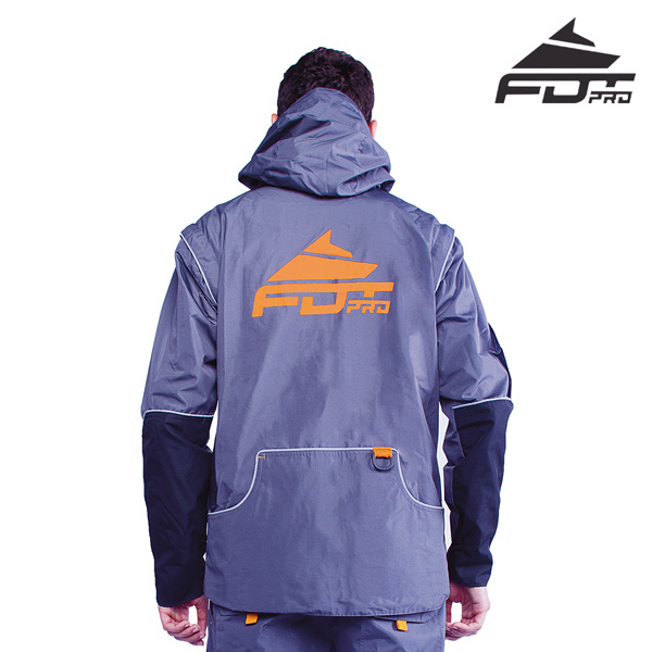 FDT Pro Dog Tracking Jacket of Grey Color with Durable Side Pockets