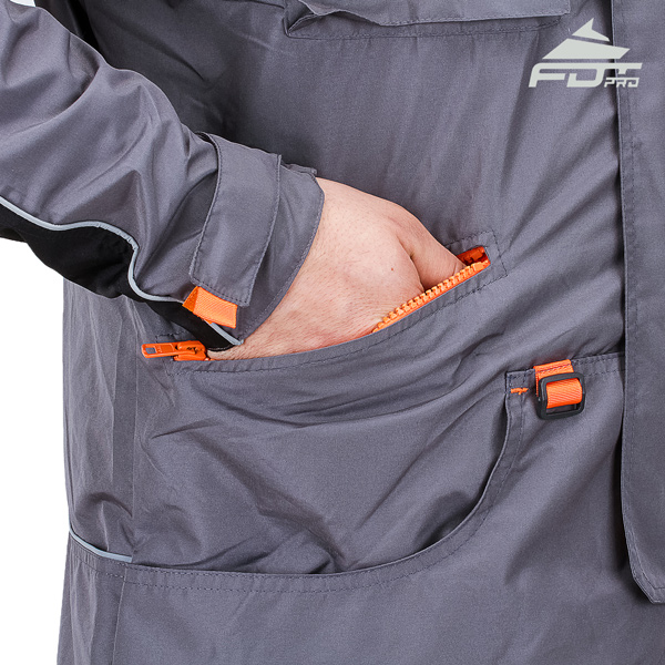 Pro Dog Training Jacket with Side Pockets for All Weather Use