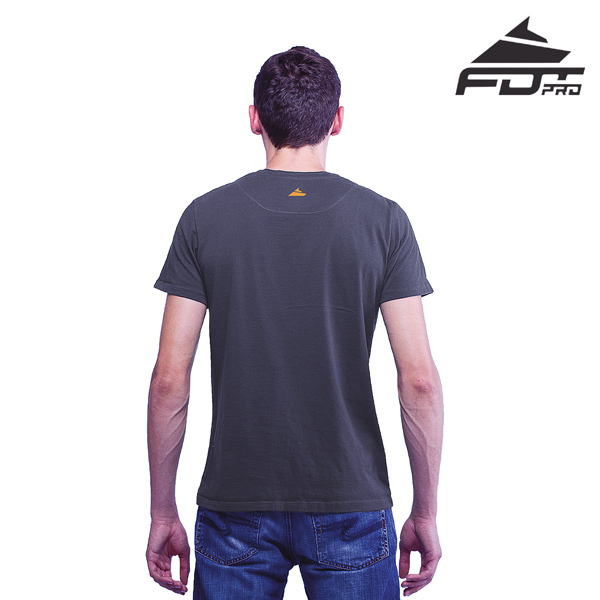 Men T-shirt of Dark Grey Color FDT Pro for Dog Trainers