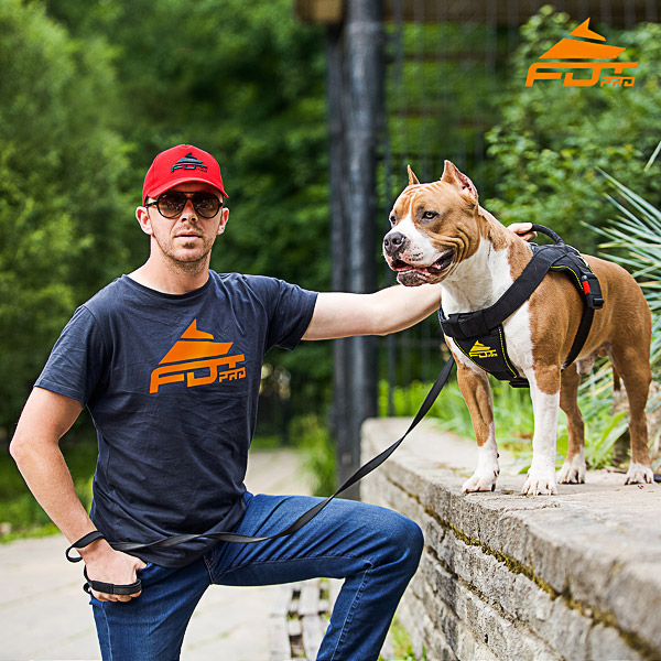 Men T-shirt of Quality Cotton with FDT Pro Logo for Dog Trainers