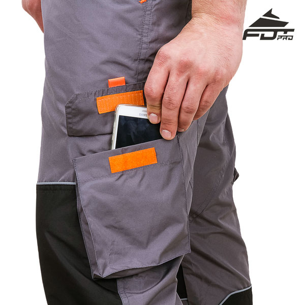 Convenient Design Professional Pants with Useful Back Pockets for Dog Trainers