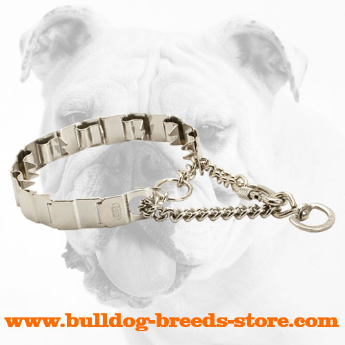 Practical Stainless Steel Dog Neck Tech Collar for Bulldogs