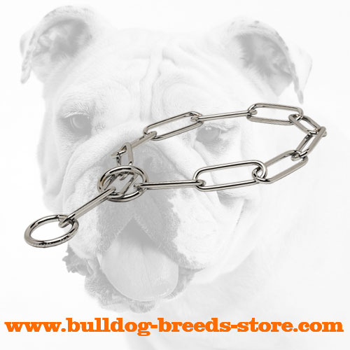 High Quality Chrome Plated Steel Bulldog Fur Saver Collar