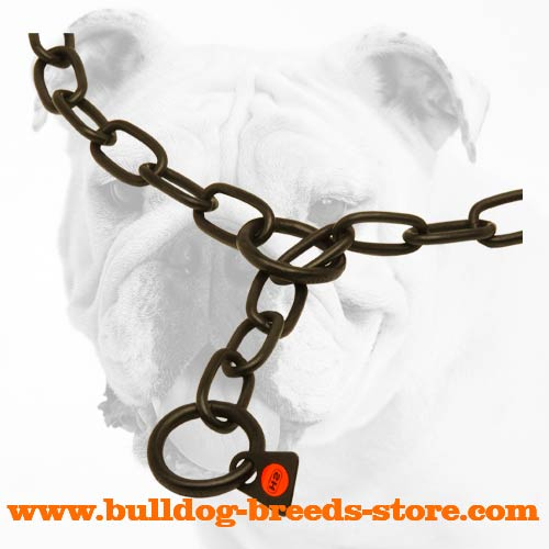 Wide Links of Stainless Steel Bulldog Fur Saver