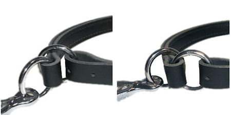 Strong Nickel Plated Fittings of Durable Leather Bulldog Choke Collar
