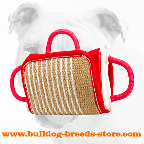 Training Jute Bulldog Bite Pillow