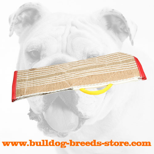 Jute Bulldog Bite Sleeve Cover with Handle