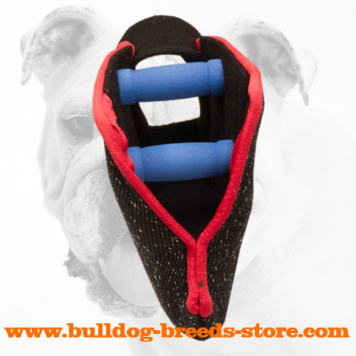 French Linen Bulldog Bite Builder with Padded Handles