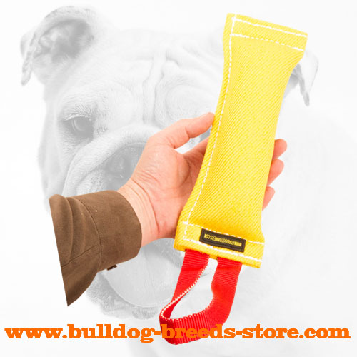 Extra Strong French Linen Bulldog Bite Tug for Bite Training