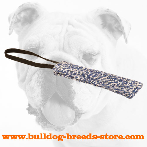 French Linen Bulldog Bite Tug for Retrieve Work