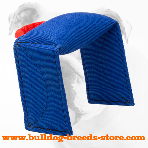 Safe and Soft French Linen Dog Bite Pad for Bulldogs
