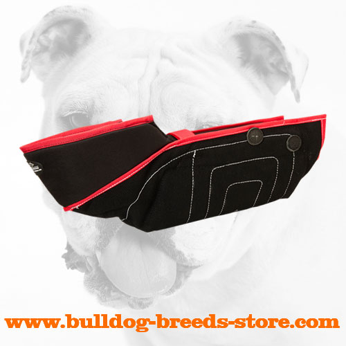 Comfortable French Linen Bulldog Bite Protection Sleeve