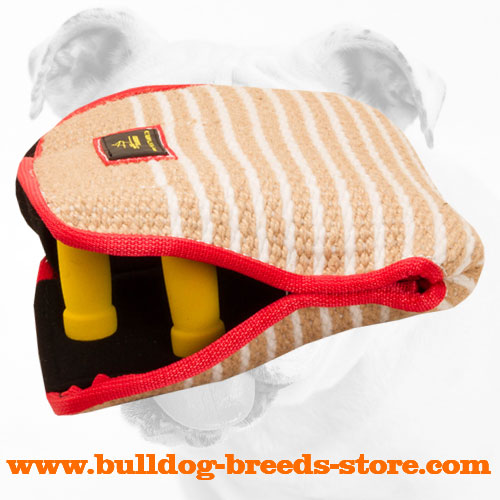 Soft Jute Bulldog Bite Builder with Two Hard Handles
