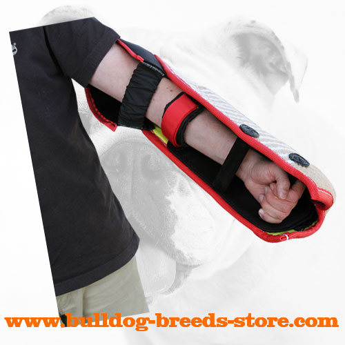 Best Training Jute Bulldog Bite Sleeve with Inside Handle
