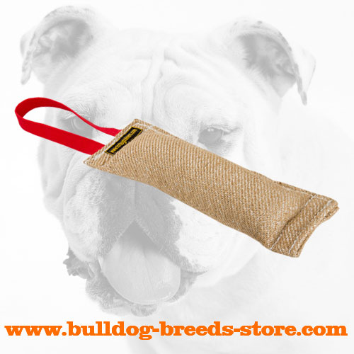 Jute Bulldog Bite Tug with Handle for Retrieve Work