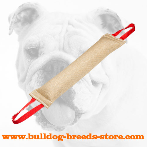 Practical Large Jute Dog Bite Tug for Bulldogs
