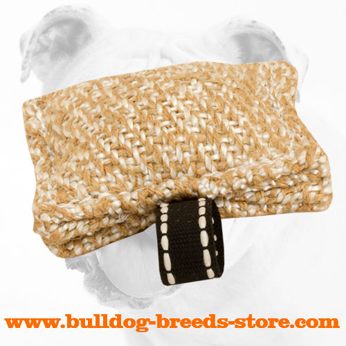 Pocket Jute Bulldog Bite Tug with Loop