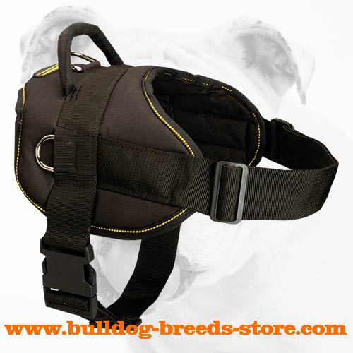 Reliable Tracking Nylon Bulldog Harness