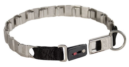"FUN-19"" STAINLESS STEEL dog collar NECK TECH COLLAR for Bulldog"