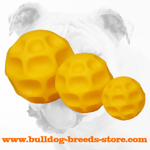 Treat Dispensing Bulldog Tetraflex Ball