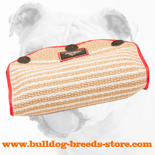 Puppy Jute Bulldog Bite Builder with Inside Handles
