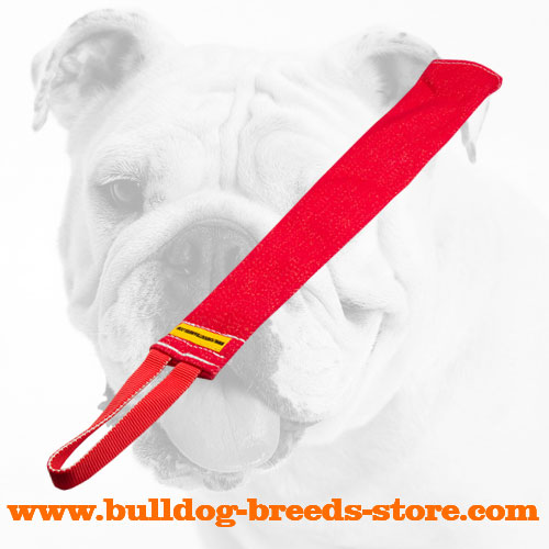 Prey Drive Training French Linen Bulldog Bite Rag with Handle