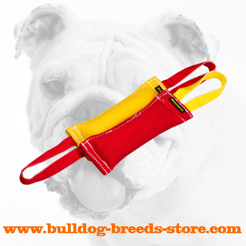 French Linen Bulldog Bite Training Set of Two Tugs