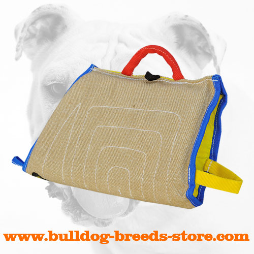 Jute Bulldog Puppy Bite Sleeve for Basic Training