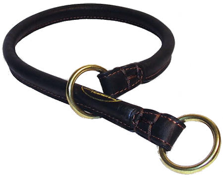 Great Rolled Leather Dog Collar/Choke Collar for Bulldog