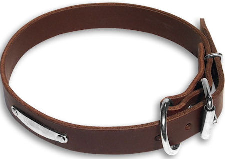 Personalized Brown collar 27'' for Bulldog /27 inch dog collar-C456