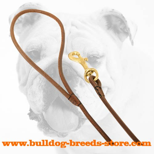 Reliable Leather Bulldog Show Leash