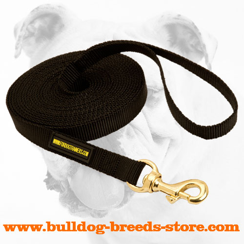 Extra Strong Training Nylon Dog Leash for Bulldog