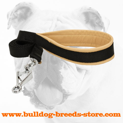 Walking Nylon Bulldog Leash Equipped with Soft Handle
