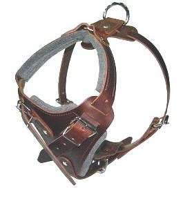 Leather dog harness for walking, tracking,pulling,training and more..