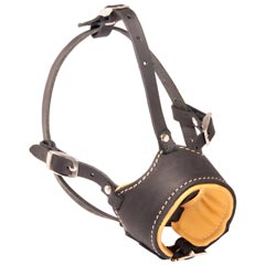 Leather Bulldog Muzzle for Everyday Walking