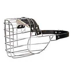 Wire Cage Bulldog Muzzle with Leather Straps