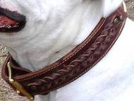 Best leather handmade leather dog collar for Vic.Bulldog